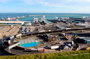 Dover Ferry Port. Note the lack of foot traffic.